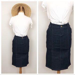 Zara • Denim Pencil Skirt • size small